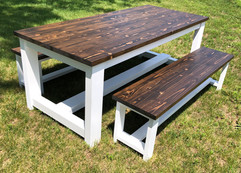 SWELL FARMTABLE AND FARMHOUSE BENCH