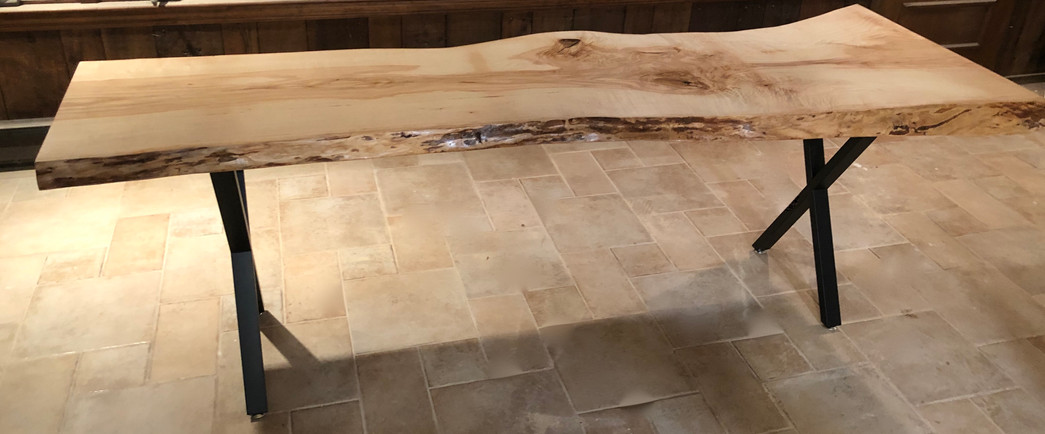 Ash Live Edge Table Slab