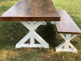 Lark Farmhouse Table & Bench