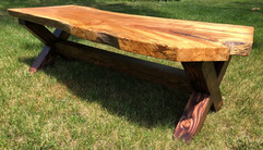 TIDEWRACK LIVE EDGE FARMHOUSE COFFEE TABLE