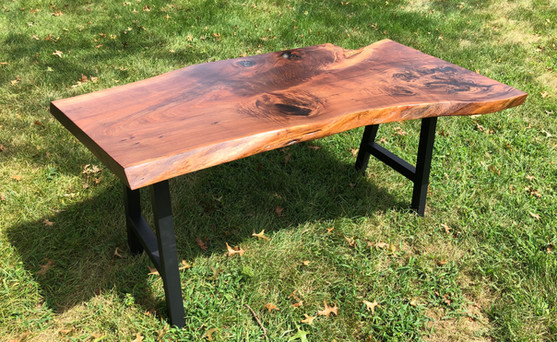 Fathom Live Edge Walnut Desk