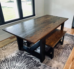 Swell Solid Oak Farmtable & Bench