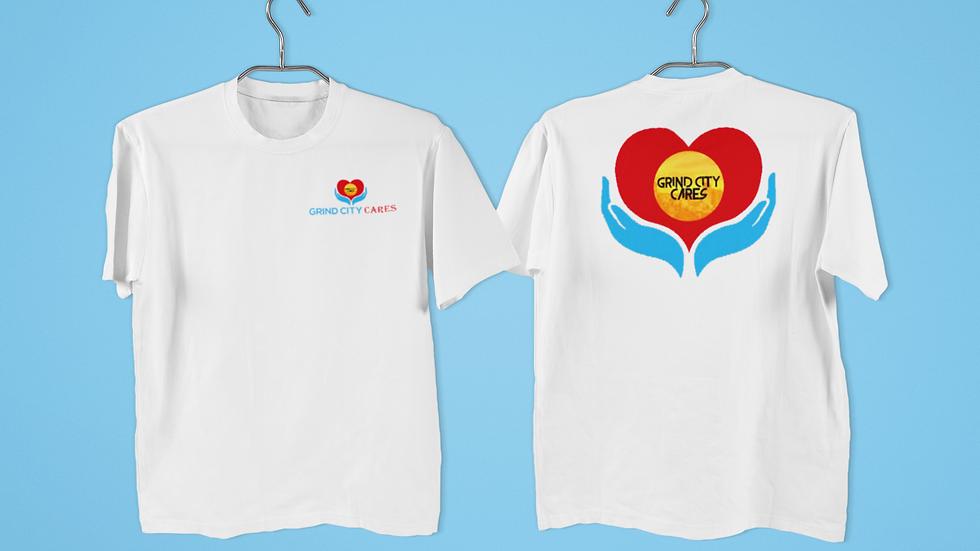 White Grind City Cares Shirt