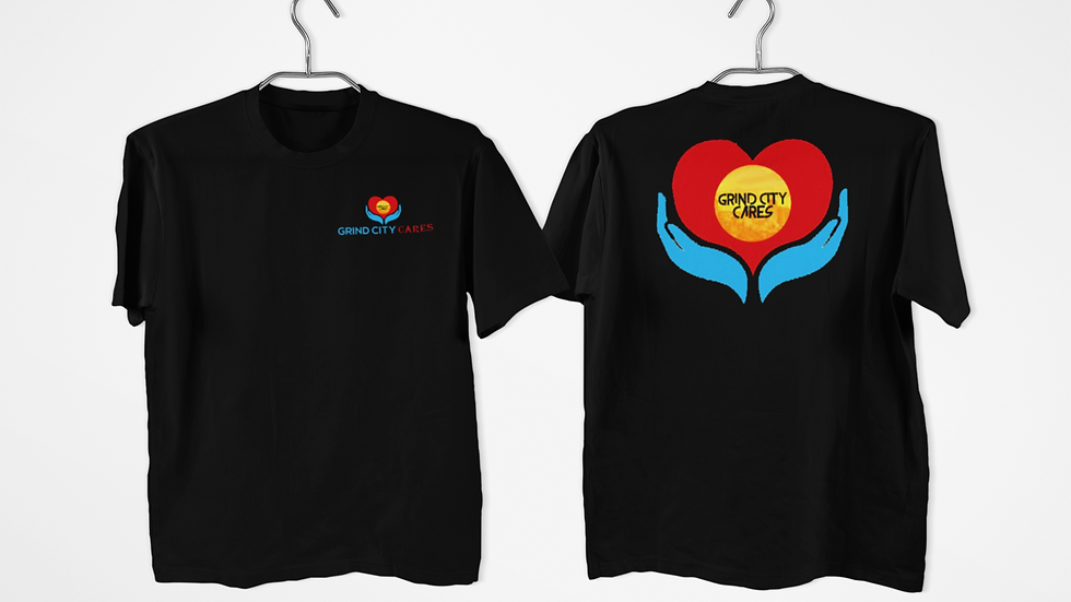 Black Grind City Cares Shirt