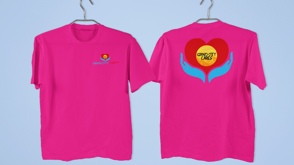 Grind City Cares Heliconia shirt