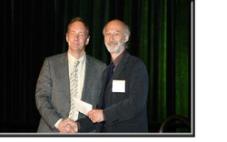 Accepting award from Tim Berners-Lee