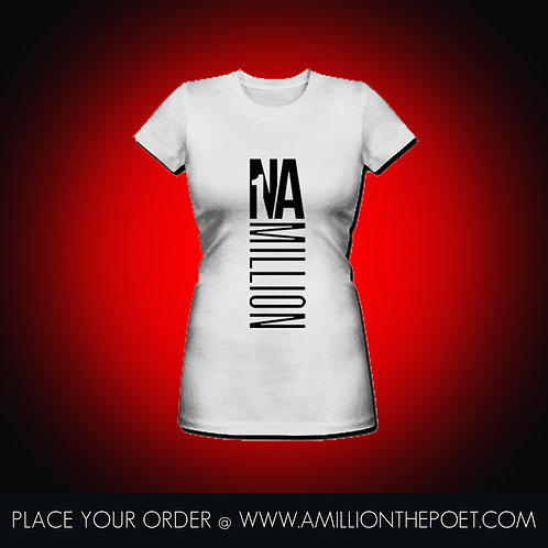 1 In A Million Woman's White V-Neck Shirt