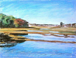 fall marsh reflections
