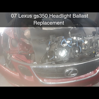 Lexus Headlight (Ballast) Replacement