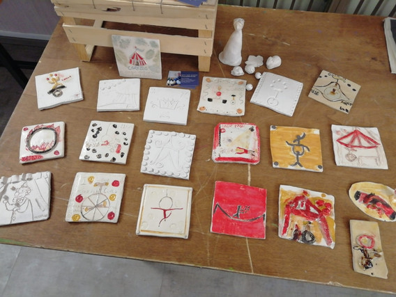 Tiles made by circus kids