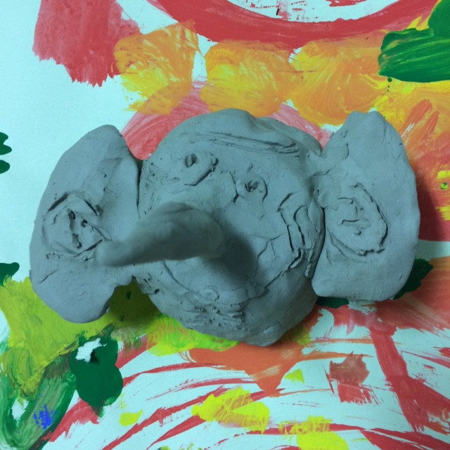BFG clay portrait