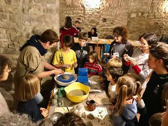Workshop in Corezzo, Arezzo with circus group