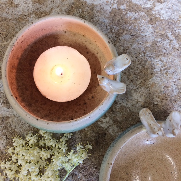 peace and dove candle bowl