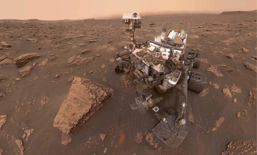"""""""Selfie"""" of the Mars Opportunity Rover on the Red Planet (Credit: Happy Mag)"""