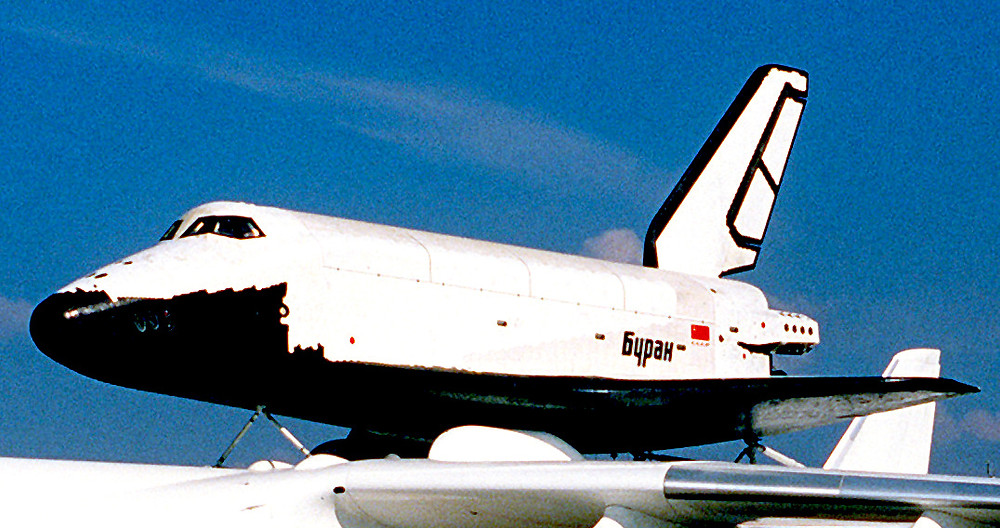 Buran, Russian Space Shuttle (Source: Bang It Out on Science)