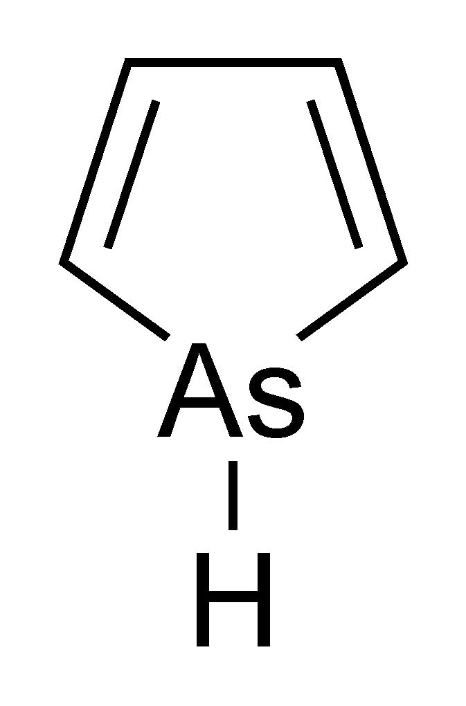 Atomic Structure of Arsole (Credit: Wikipedia)