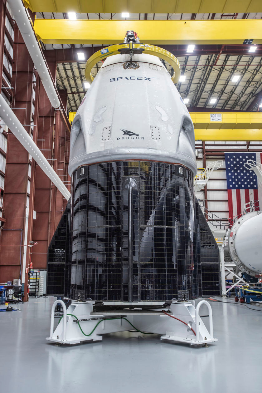 Head-On Shot of the SpaceX Crew Dragon Capsule (Credit: The Planetary Society)