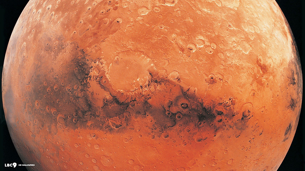 Close-Up Detailed Mars Wallpaper with Craters (Source: AVANTE)