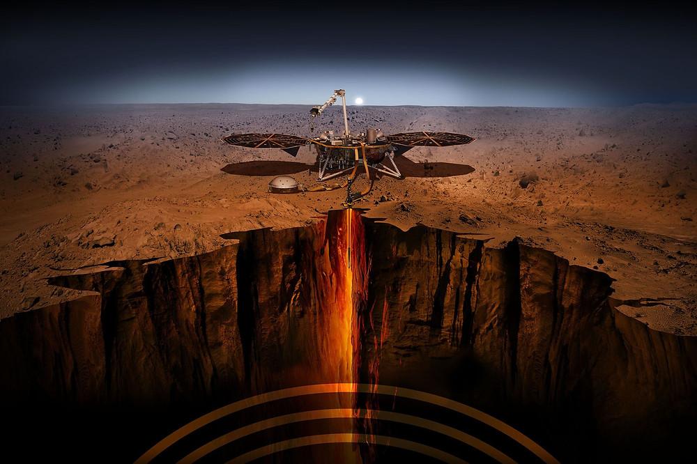 Art of InSight Exploring Mars' Interior (Source: VOX)