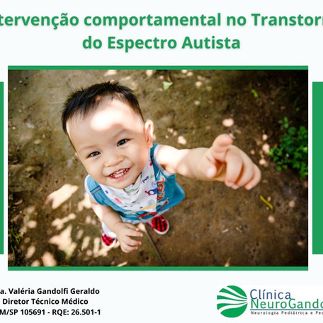 Intervenção comportamental no Transtorno do Espectro Autista (TEA).