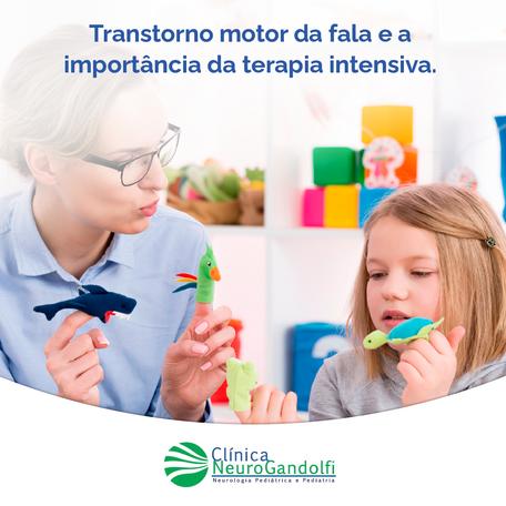 Transtorno motor da fala e a importância da terapia intensiva.