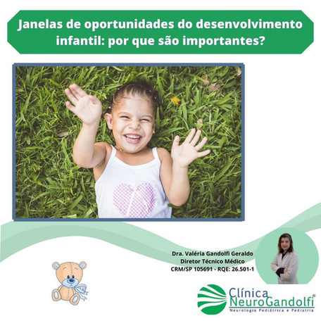 Janelas de oportunidades do desenvolvimento infantil: por que são importante?