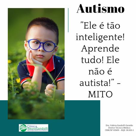 """Autismo: """"Ele é tão inteligente! Aprende tudo! Ele não é autista!"""" - MITO"""