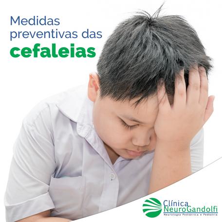 Medidas preventivas das cefaléias