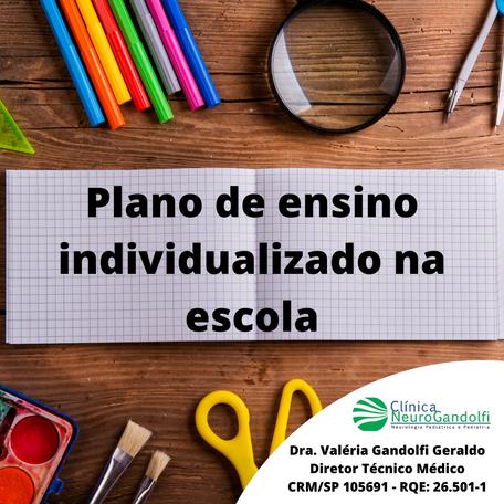 Plano de ensino individualizado na escola