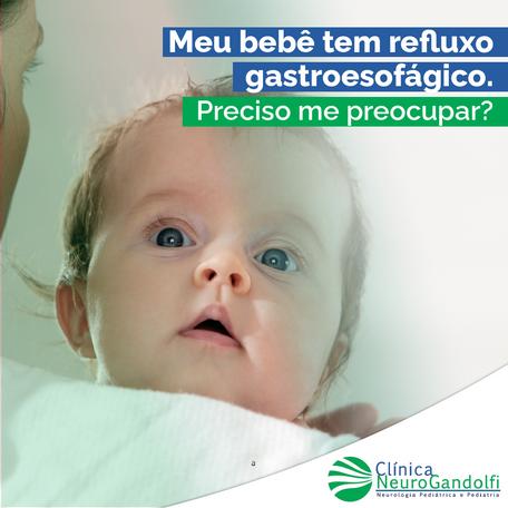 Meu bebê tem refluxo gastroesofágico. Preciso me preocupar?