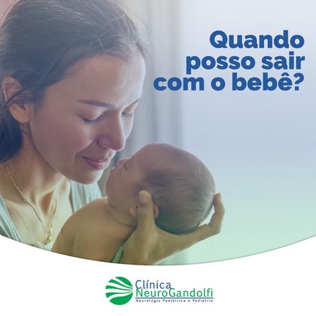 Quando posso sair com o bebê pela primeira vez?