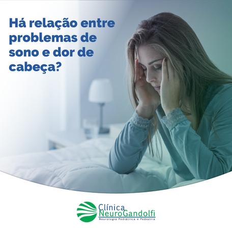 Há relação entre problemas de sono e dor de cabeça?