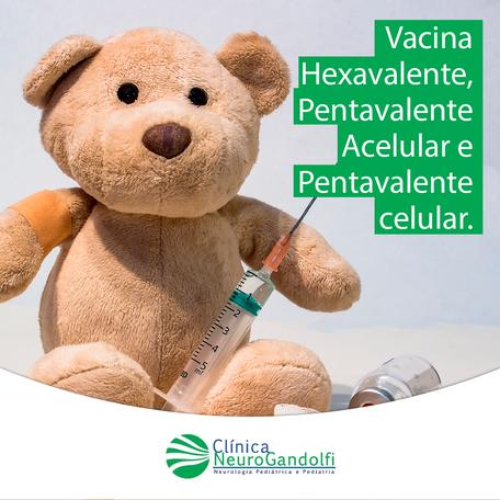 Vacina Hexavalente, Pentavalente Acelular e Pentavalente celular