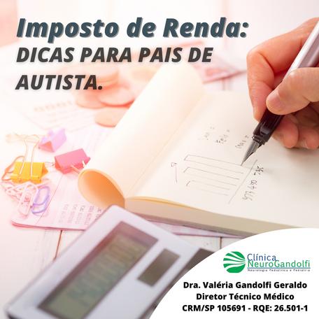 Imposto de Renda: dicas para pais de autista.