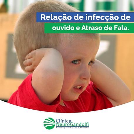 Relação de infecção de ouvido e Atraso de Fala.
