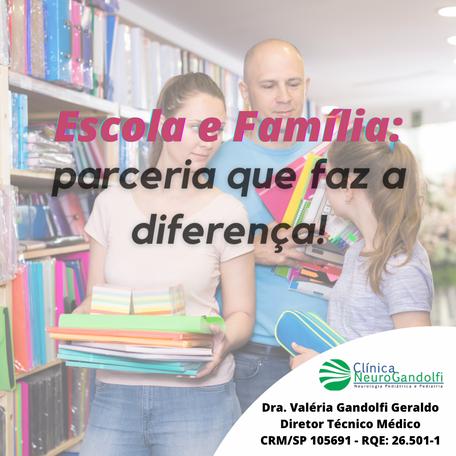 Escola e Família: parceria que faz a diferença!