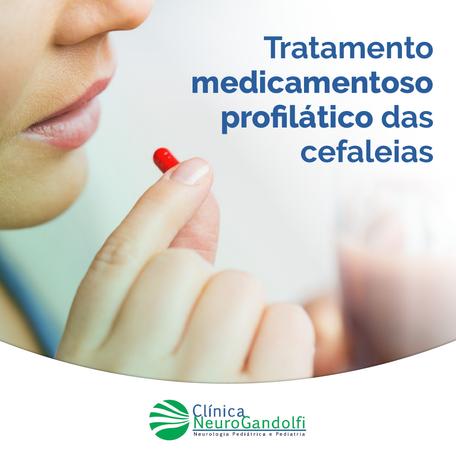 Tratamento medicamentoso profilático das cefaleias
