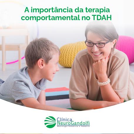 A importância da terapia comportamental no TDAH.