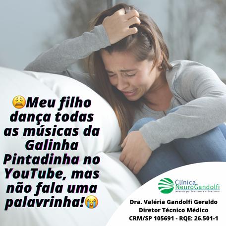 😩Meu filho dança todas as músicas da Galinha Pintadinha no YouTube, mas não fala uma palavrinha!😭