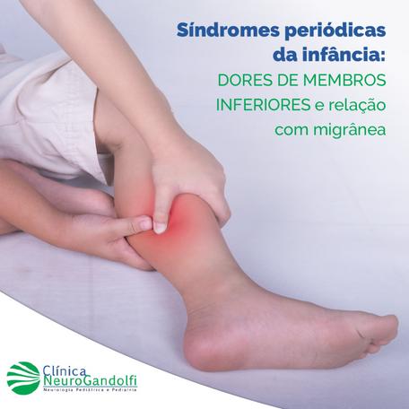 Síndromes periódicas da infância: dores de membros inferiores e relação com migrânea.