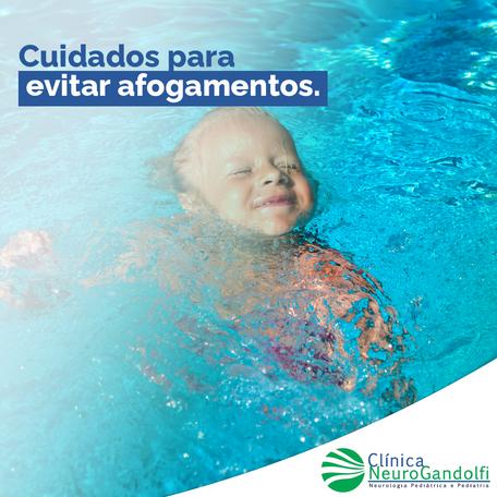 Cuidados para evitar afogamentos