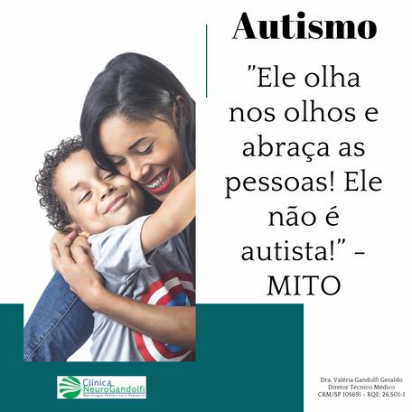 """Autismo: """"Ele olha nos olhos e abraça as pessoas! Ele não é autista!"""" - MITO"""