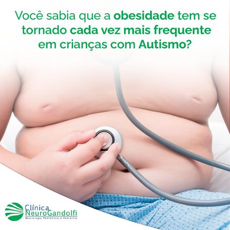 Você sabia que a obesidade tem se tornado cada vez mais frequente em crianças com Autismo?