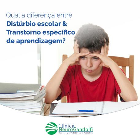 Qual a diferença entre Distúrbio Escolar e Transtornos específicos de de aprendizagem?