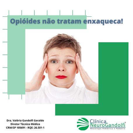 Opióides não tratam enxaqueca!