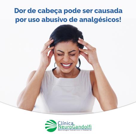 Dor de cabeça pode ser causada por uso abusivo de analgésicos!