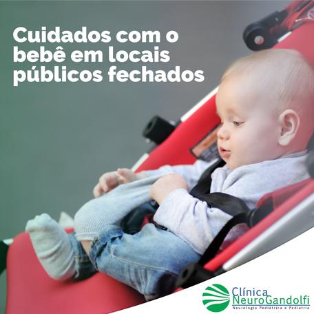 Cuidados com o bebê em locais públicos fechados