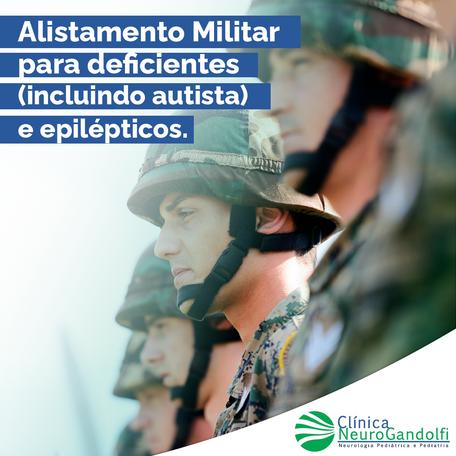 Alistamento Militar para deficientes (incluindo autista) e epilépticos.