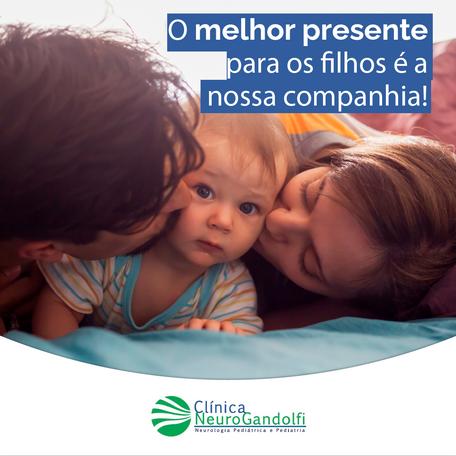 O melhor presente para os filhos é a nossa companhia!