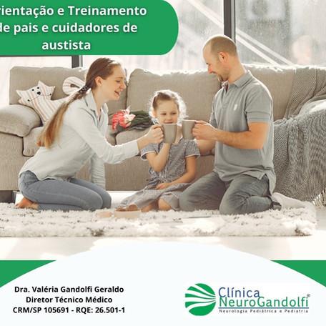 Orientação e Treinamento de pais e cuidadores de autista.